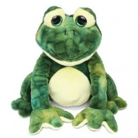 Green Stuffed Frog Toy